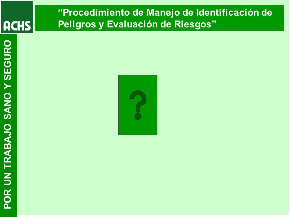 Procedimiento de Manejo de Identificación de Peligros y Evaluación de Riesgos