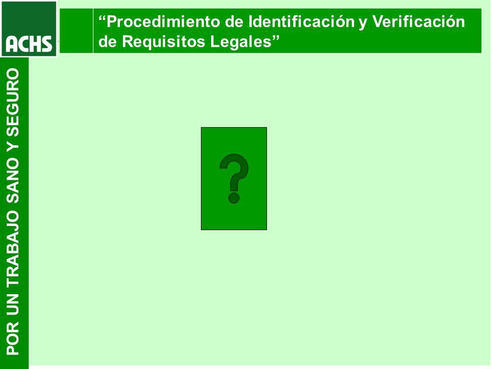 Procedimiento de Identificación y Verificación de Requisitos Legales