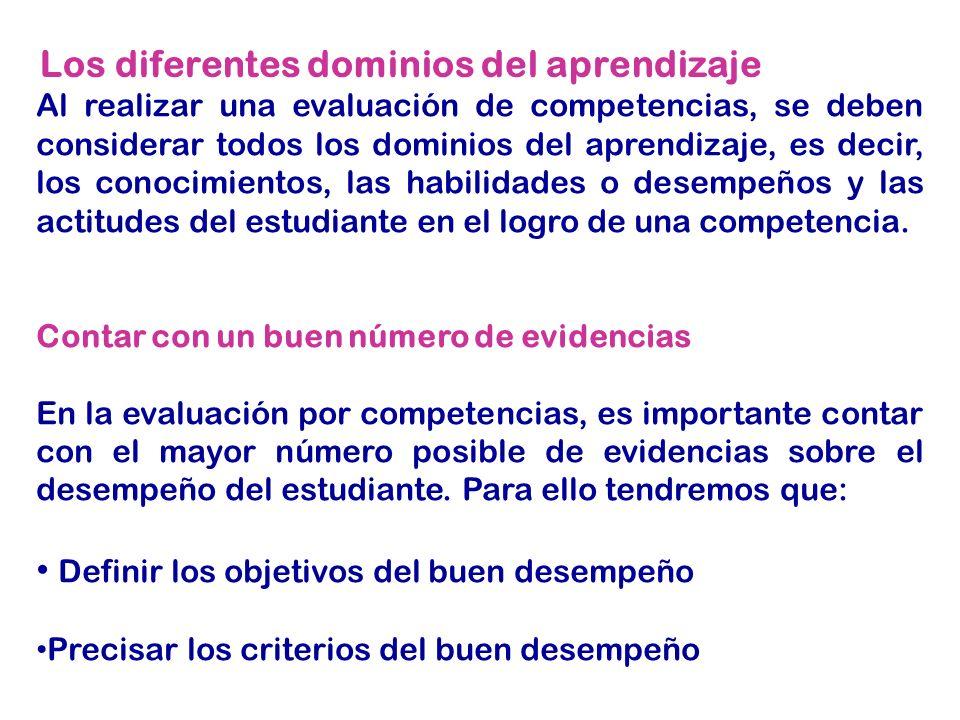Los diferentes dominios del aprendizaje