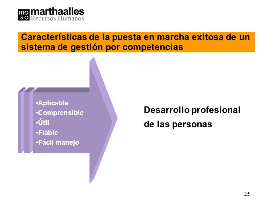 Desarrollo profesional de las personas