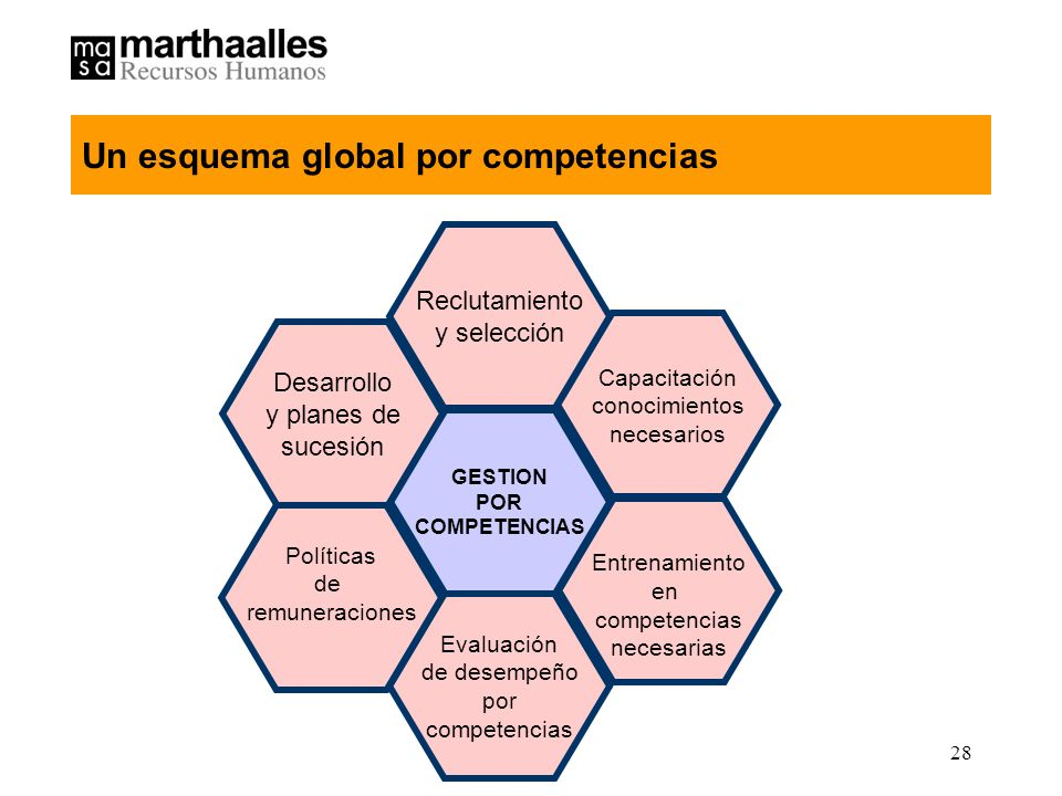 Un esquema global por competencias