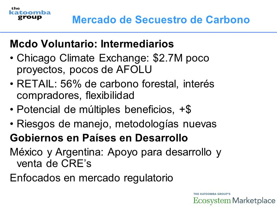 Mercado de Secuestro de Carbono