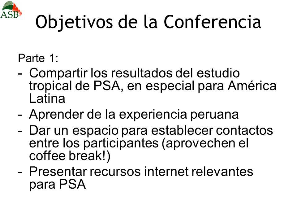 Objetivos de la Conferencia