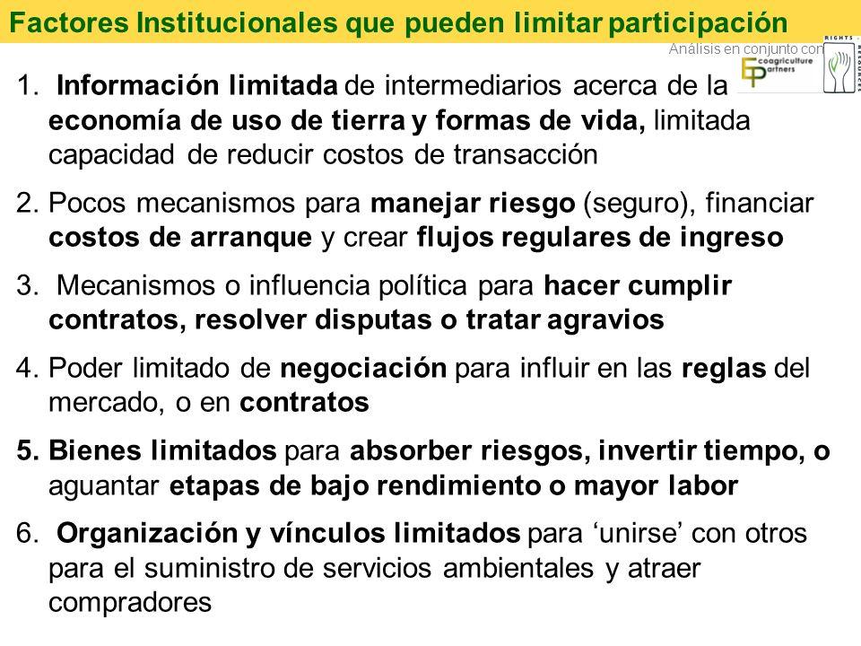 Factores Institucionales que pueden limitar participación