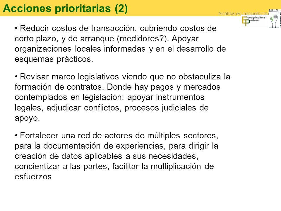 Acciones prioritarias (2)