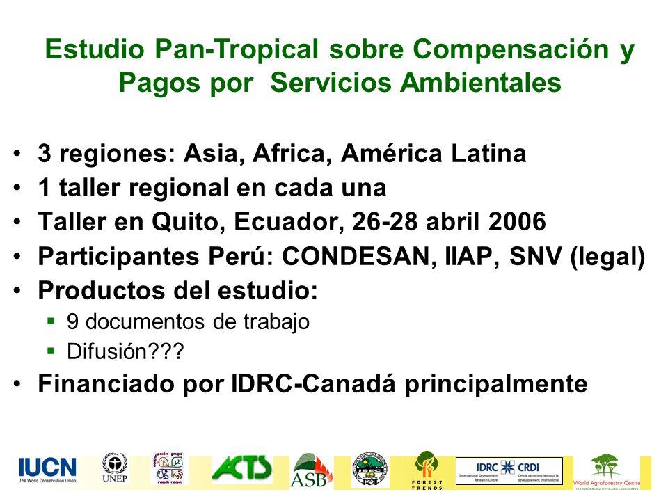 Estudio Pan-Tropical sobre Compensación y Pagos por Servicios Ambientales
