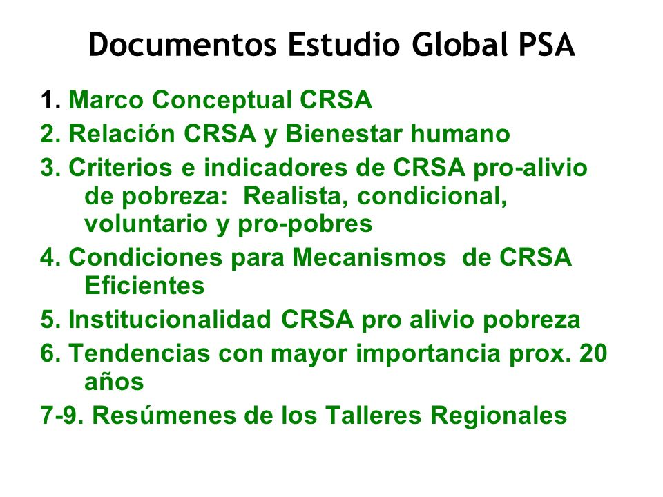Documentos Estudio Global PSA