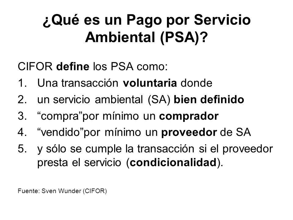 ¿Qué es un Pago por Servicio Ambiental (PSA)