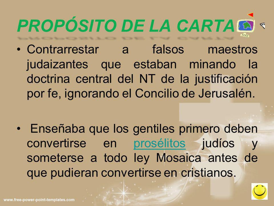 PROPÓSITO DE LA CARTA