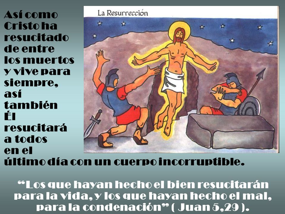 Así como Cristo ha resucitado de entre los muertos y vive para siempre,