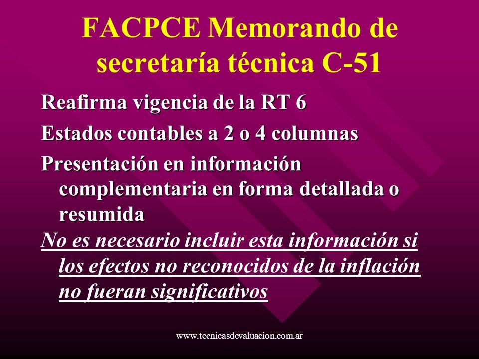 FACPCE Memorando de secretaría técnica C-51