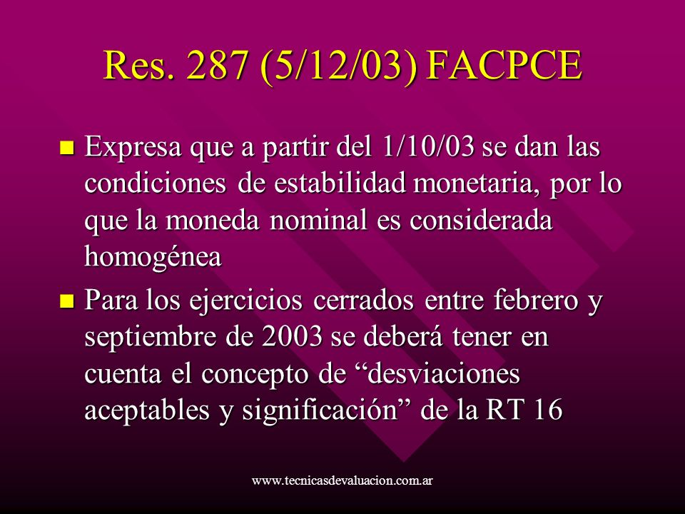 Res. 287 (5/12/03) FACPCE