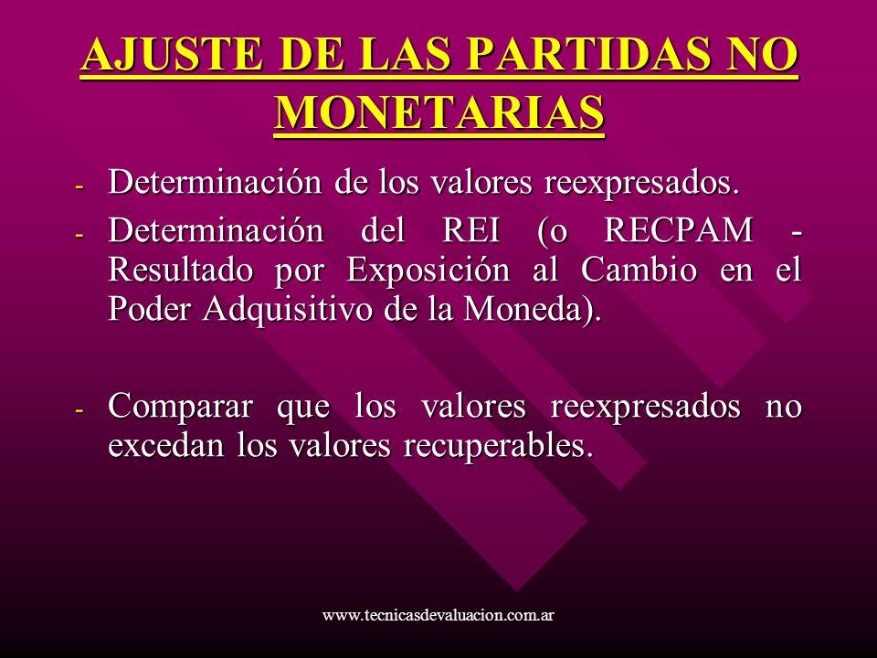 AJUSTE DE LAS PARTIDAS NO MONETARIAS