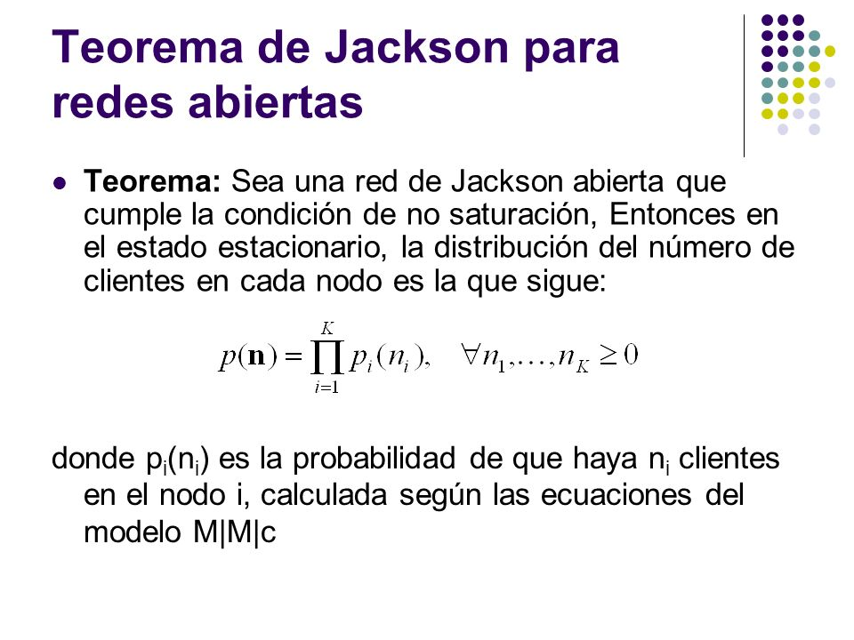 Teorema de Jackson para redes abiertas
