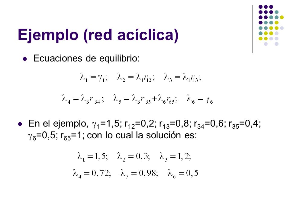 Ejemplo (red acíclica)