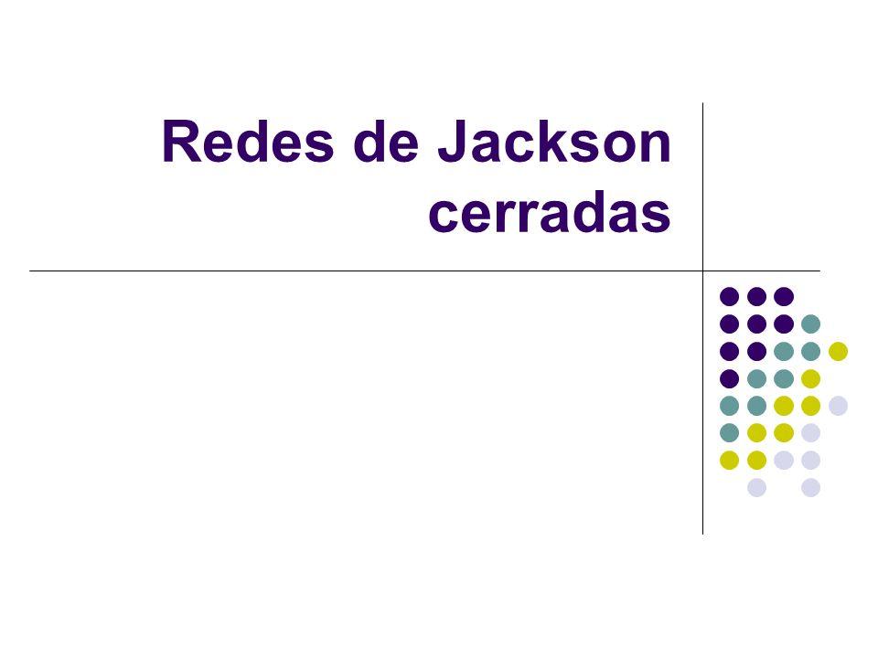 Redes de Jackson cerradas