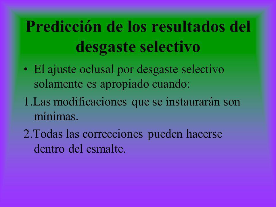 Predicción de los resultados del desgaste selectivo