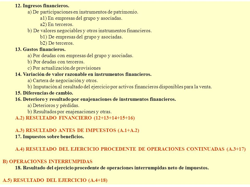 a) De participaciones en instrumentos de patrimonio.