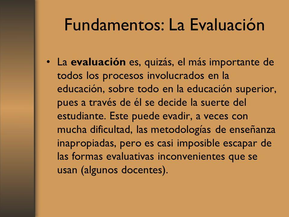 Fundamentos: La Evaluación