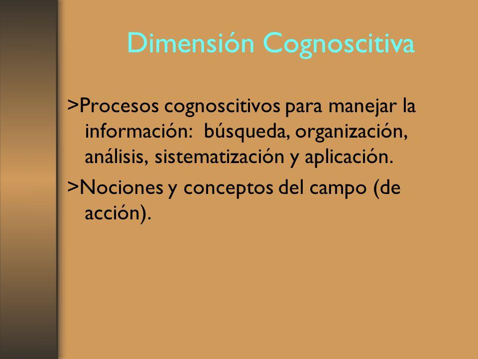 Dimensión Cognoscitiva