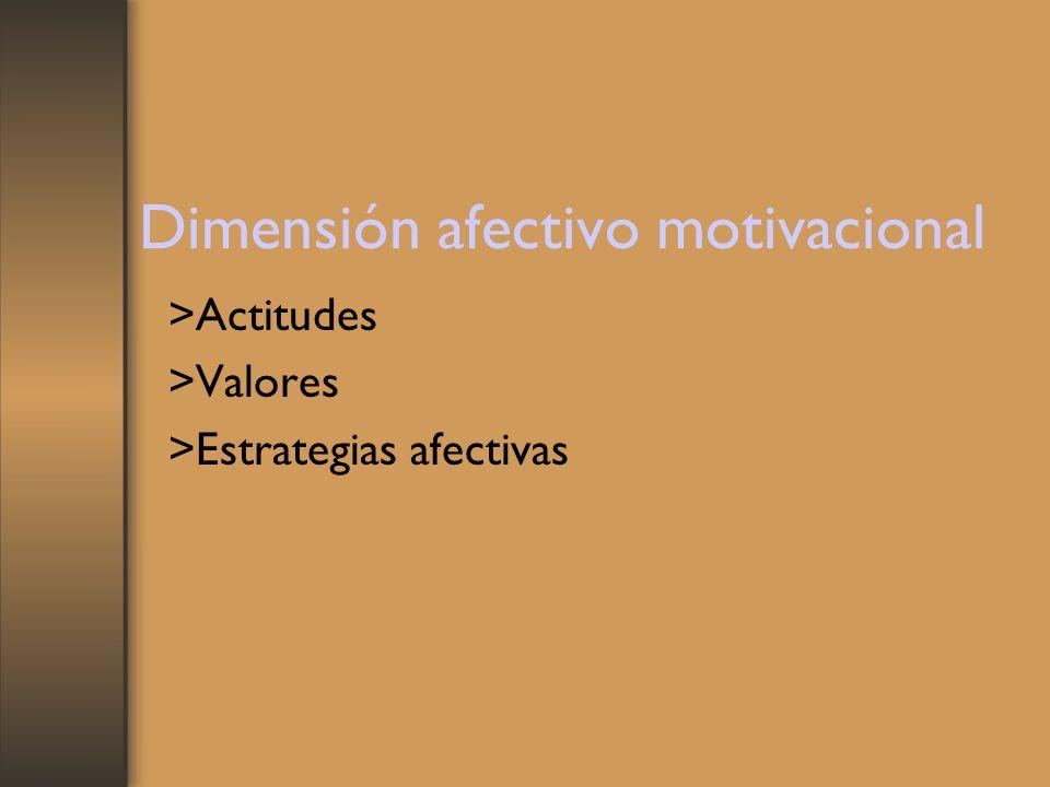 Dimensión afectivo motivacional