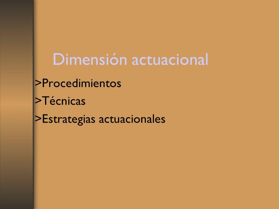 Dimensión actuacional