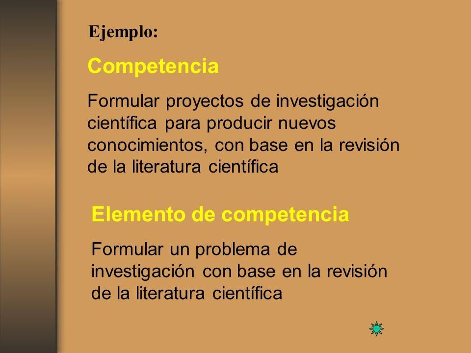 Elemento de competencia