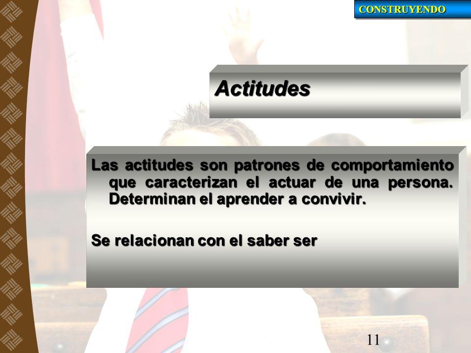 CONSTRUYENDO Actitudes.