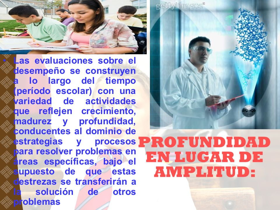PROFUNDIDAD EN LUGAR DE AMPLITUD: