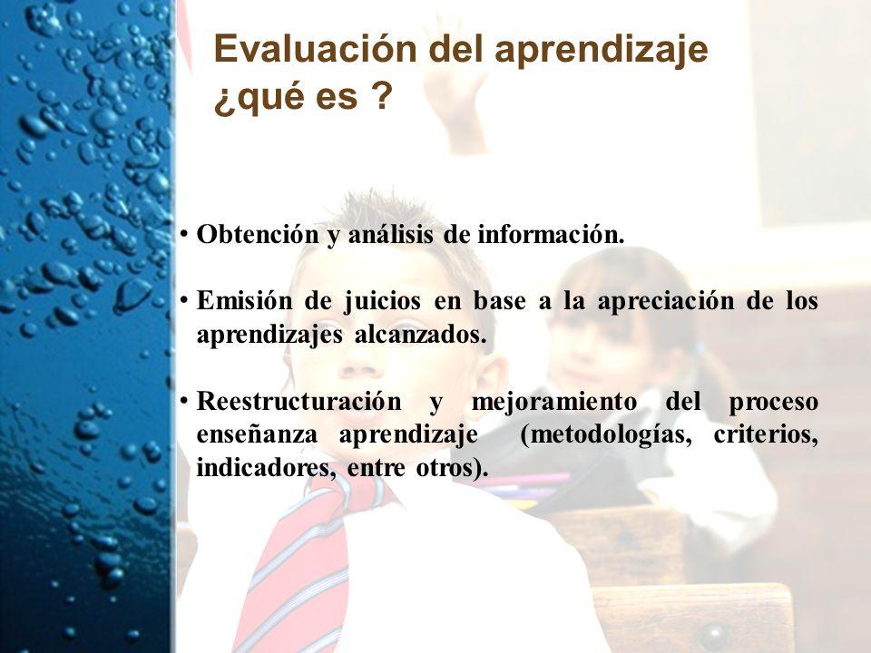 Evaluación del aprendizaje ¿qué es