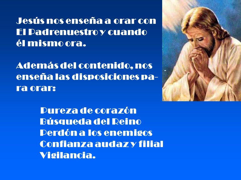 Jesús nos enseña a orar con