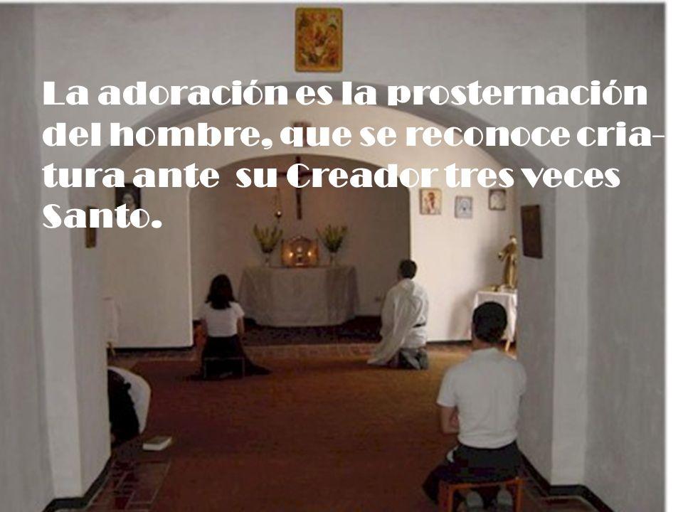 La adoración es la prosternación