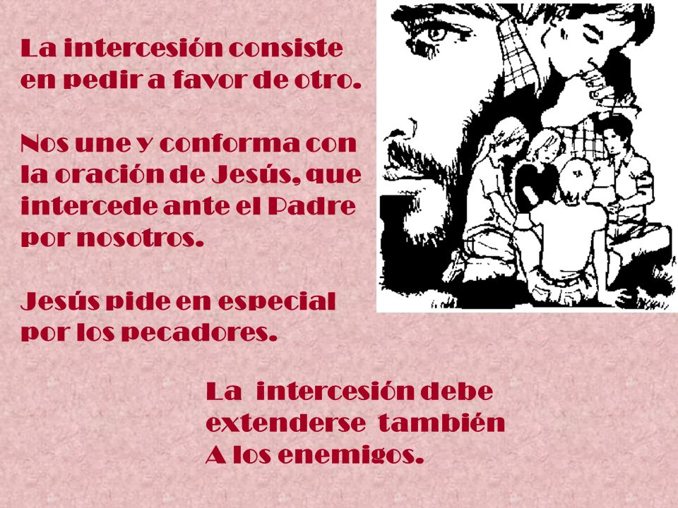 La intercesión consiste