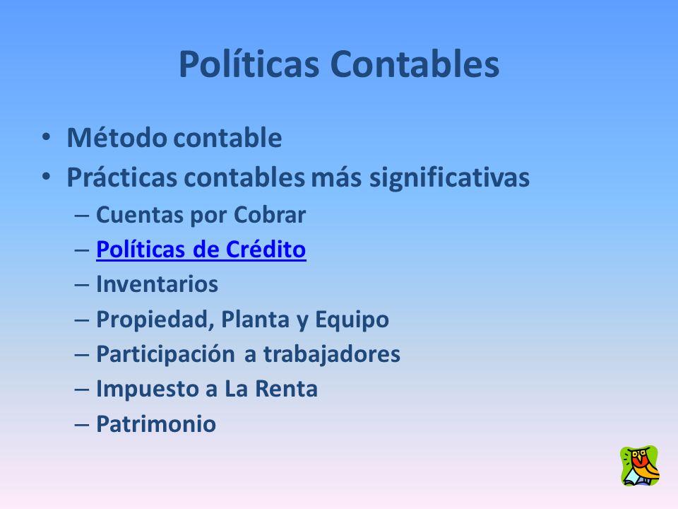 Políticas Contables Método contable