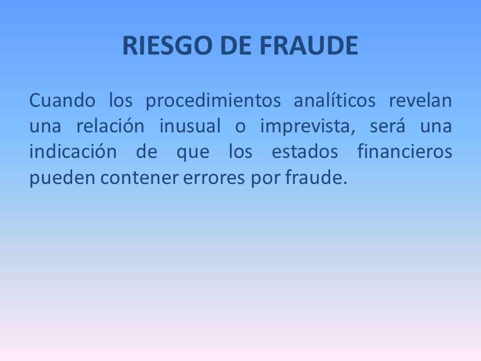 RIESGO DE FRAUDE