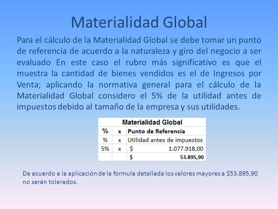 Materialidad Global