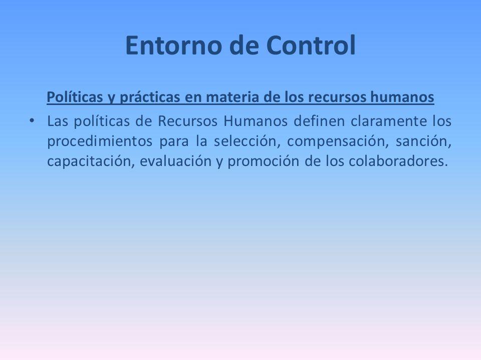 Políticas y prácticas en materia de los recursos humanos