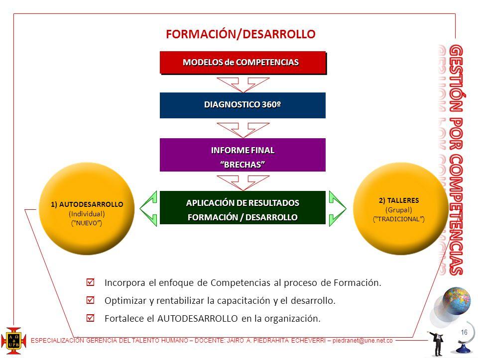 FORMACIÓN/DESARROLLO