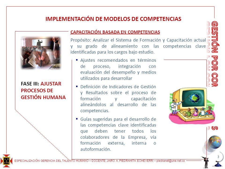 IMPLEMENTACIÓN DE MODELOS DE COMPETENCIAS