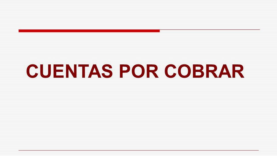 CUENTAS POR COBRAR