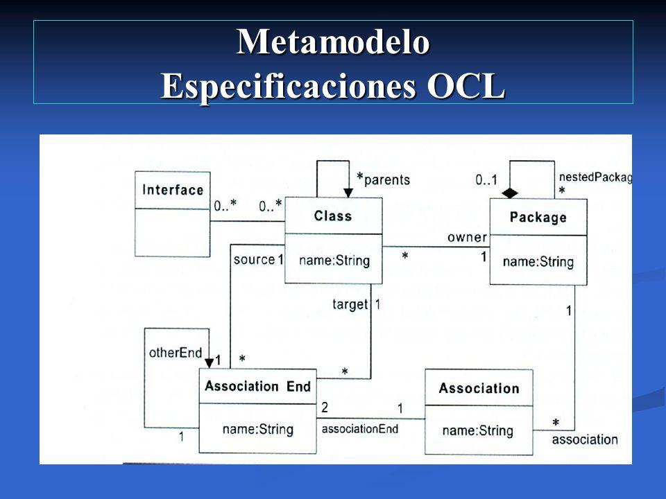 Metamodelo Especificaciones OCL