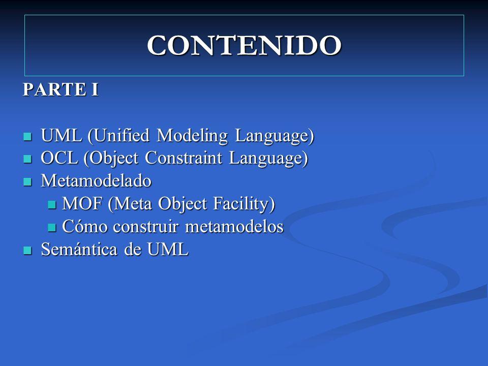 CONTENIDO PARTE I UML (Unified Modeling Language)