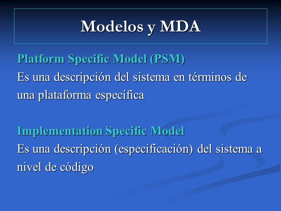 Modelos y MDA Platform Specific Model (PSM)