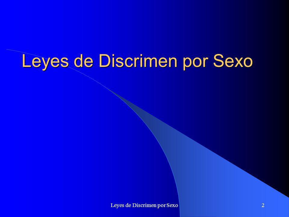 Leyes de Discrimen por Sexo