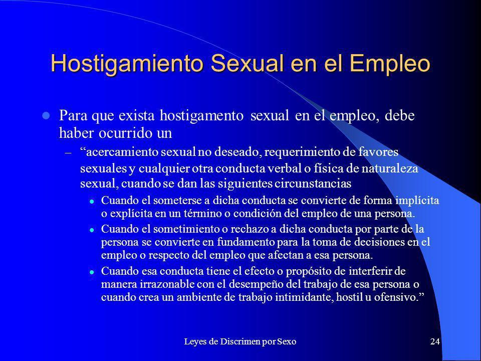 Hostigamiento Sexual en el Empleo