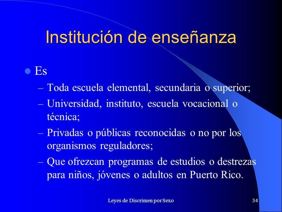 Institución de enseñanza