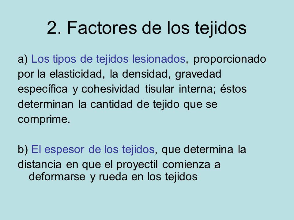 2. Factores de los tejidos
