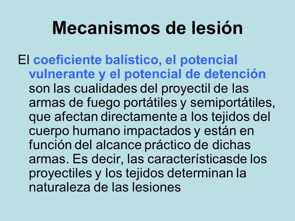 Mecanismos de lesión