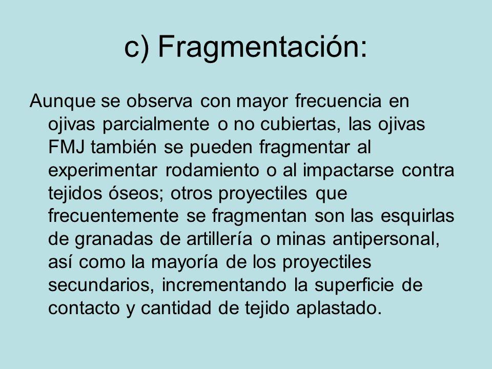 c) Fragmentación: