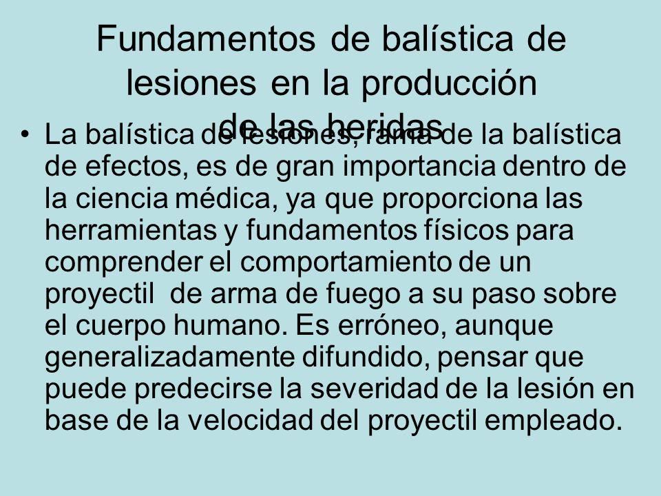 Fundamentos de balística de lesiones en la producción de las heridas